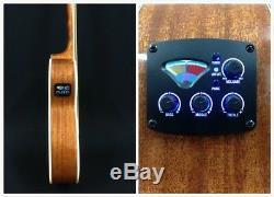 4/4 Haze 4-String Acoustic Bass Guitar withBuilt-in EQ/Tuner+Free Bag FB-711BCEQ/N
