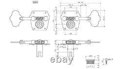 (4) Gotoh Vintage Black Pre-CBS Style Bass Tuners Fender P/Jazz TK-0790-003