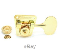 (4) Hipshot HB2 Classic Gold Round LOLLIPOP Tuners for 60s/70s Fender Bass