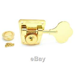 (4) Hipshot HB2 Gold American Classic Tuners for 70s Fender P/Jazz Bass