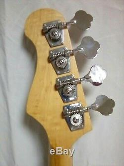 4 STRING ELECTRIC BASS GUITAR TOBACCO BURST CLOVER TUNERS 2 PICKUPS NEW WithCASE