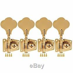 4 String Bass Guitar Tuners Tuning Pegs Keys Machine Heads Open Back Gear 4R