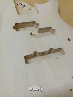 4-String Electric Bass Guitar DIY Kit, Complete NO-SOLDE+Tuner, 3 Picks B-325DIY