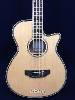 4-String Haze 3/4 Size Acoustic Bass Guitar withEQ, Built-in Tuner+Free Gig Bag