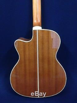 43 4-String Caraya Acoustic Bass Guitar withElectric Pickup, Tuner+Free Gig Bag