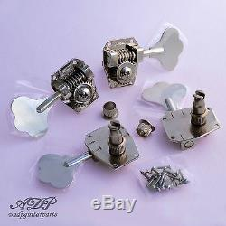 4x MECANIQUES BASSE HIPSHOT HB5-N RICKENBACKER BASS Replacement TUNERS SmallPost