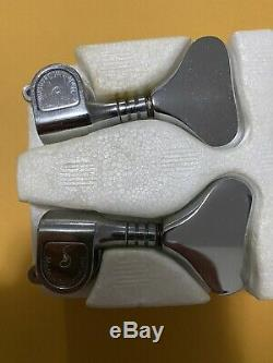 70s Single Schaller BaSs Guitar Tuner Tuning Key Head Machine Peg Chrome