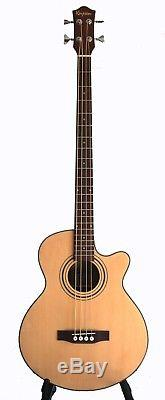 Acoustic Electric Bass Guitar Package built in tuner 4 string iBass243EQ