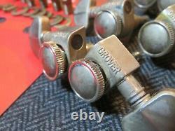 Aged GROVER 502N LOCKING nickel 181 Roto-Grip tuners fit Gibson Les Paul ES-335