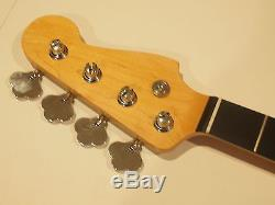 All Parts Ebony Neck for vintage Fender Precision/Jazz Bass PEO/oil F withTuners