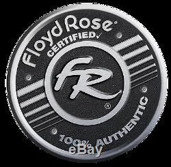 Authentic Original Floyd Rose Non-Fine Tuner Tremolo Kit Burnt Chrome, R3 Nut
