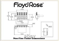 Authentic Original Floyd Rose Non-Fine Tuner Tremolo Kit Gold
