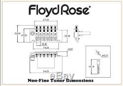 Authentic Original Floyd Rose Non-Fine Tuner Tremolo Kit Gold, R3 Nut