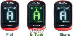 AxeRig Clip-On Chromatic Guitar Tuner for Acoustic Bass 6 & 12 string Guitars