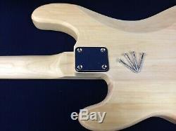 B-303DIY Complete NO-SOLDER DIY Kit-4/4 Size PB Electric Bass Guitar+Tuner, Picks