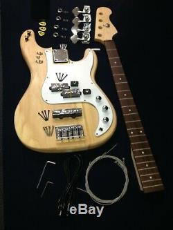 B-303DIY PB Style Electric Bass Guitar DIY Kit, No-Soldering+Free Tuner, 3 Picks