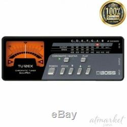 BOSS For guitar bass Tuner TU-12EX Thin body Accu pitch Auto power off JAPAN NEW