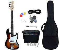 Bass Guitar 4 String Jazz Sunburst PB89120 with 20W amp package