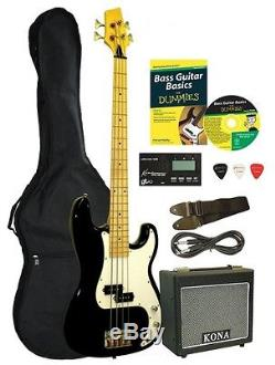 Bass Guitar Package Amplifier Accessories Case Tuner Instructional Cd 4 String