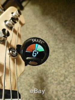 Bass guitar, amp, tuner, strings, book