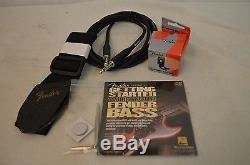 Beginning Bass Guitar Kit 10 Pieces Tuner Strap Chord DVD, Etc AMCI982