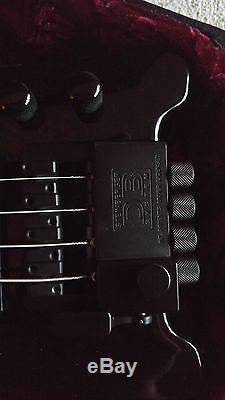 Black Steinberger 4 String Bass with DB Tuner and Coffin Case