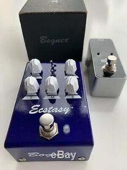 Bogner Ecstasy Blue Mini Overdrive with FREE Tuner Pedal and Planet Waves Cables