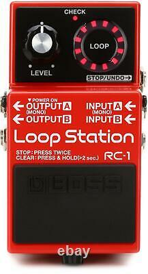 Boss RC-1 Loop Station Looper Pedal + Snark SN-1X Guitar and Bass Tuner with