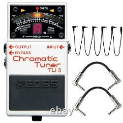 Boss TU-3 Chromatic Guitar Bass Tuner Pedal TU3 + Daisy Chain + Patch Cables
