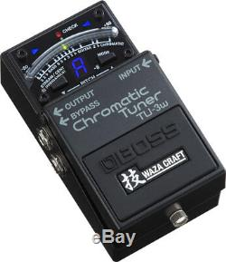 Boss TU-3W Waza Craft Chromatic Tuner with Bypass Guitar and Bass Tuner Pedal