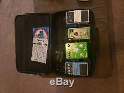 Boss joyo pedalboard loaded with case guitar bass effects chorus fuzz tuner