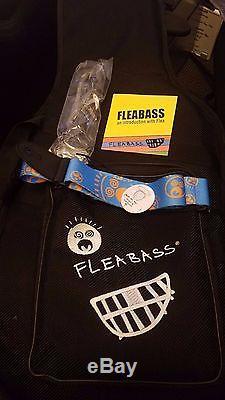 Brand new Fleabass bass guitar Black & white (FREE U. S. SHIPPING!)