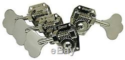 Brand new set of hipshot hb1 nickel clover tuners for bass Musicman G&L (3+1)