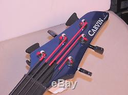 CARVIN LB75 FIVE STRING FRETLESS BASS with DROP C Tuner Key LB-75