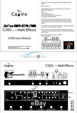 Caline C300 Multi Effect Pedal Guitar Effect Pedal Built-in Pedal Tuner FX Loop