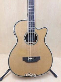 Caraya 711CEQ/N 4-String Acoustic Bass Guitar withBuilt-in EQ, Tuner+Free Gig Bag