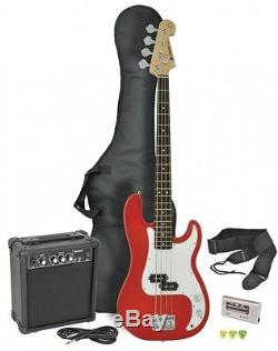Chord CAB41-RD Bass Guitar, Amp & Tuner Package New Red