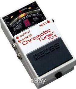 Chromatic Guitar & Bass Tuner Pedal, High-Brightness Mode, 21-Segment LED Meter