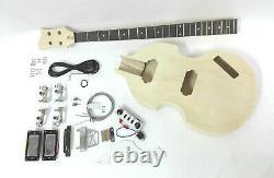 Complete No-Soldering Electric Bass Guitar DIY, HH Pickups, Viola shape HSVL 1910