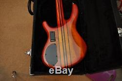 Cort A4 NAMM show bass 4 string with D tuners Cherry sunburst