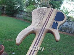 Cort A5 Artisan Bass, 5 String, Neck Thru, Bartolini Active, Hipshot Tuners, no resrv