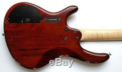 Cort Active Bass Guitar 4-String Trans-Red Rare Flamed withGig Bag, Strap & Tuner