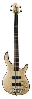 Cort Artisan A4Plus Electric Bass Guitar Bartolini Pickups Hipshot Tuners