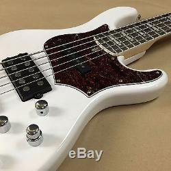 Cort GB75-WBL Active 5-String Electric Bass Hipshot Tuners Jazz-MM Humbucker
