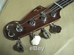 Custom 4 String Bass GuitarAbalone InlaySchaller Tuners withHard Case