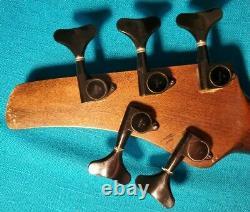 Custom Built 5 String Fretless Bass Guitar Neck Mahogany With Gotoh Tuners