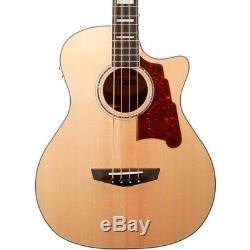 D'Angelico Premier Mott Single Cut Acoustic Bass withOnboard Preamp, Tuner