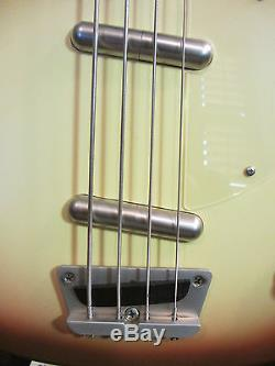DANELECTRO LONGHORN BASS GUITAR WITH GIG BAG / COPPER BURST / UP GRADED TUNERS