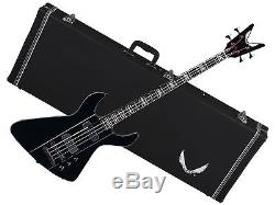 DEAN Demonator 4 String electric BASS guitar NEW black with CASE Grover Tuners