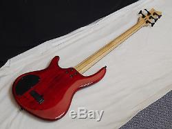 DEAN Edge 5 5-string BASS guitar NEW Trans Red with LIGHT CASE Grover Tuners